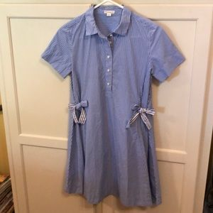"J.Crew Crewcuts ""Swing"" Stripped Shirtdress Sz 12"